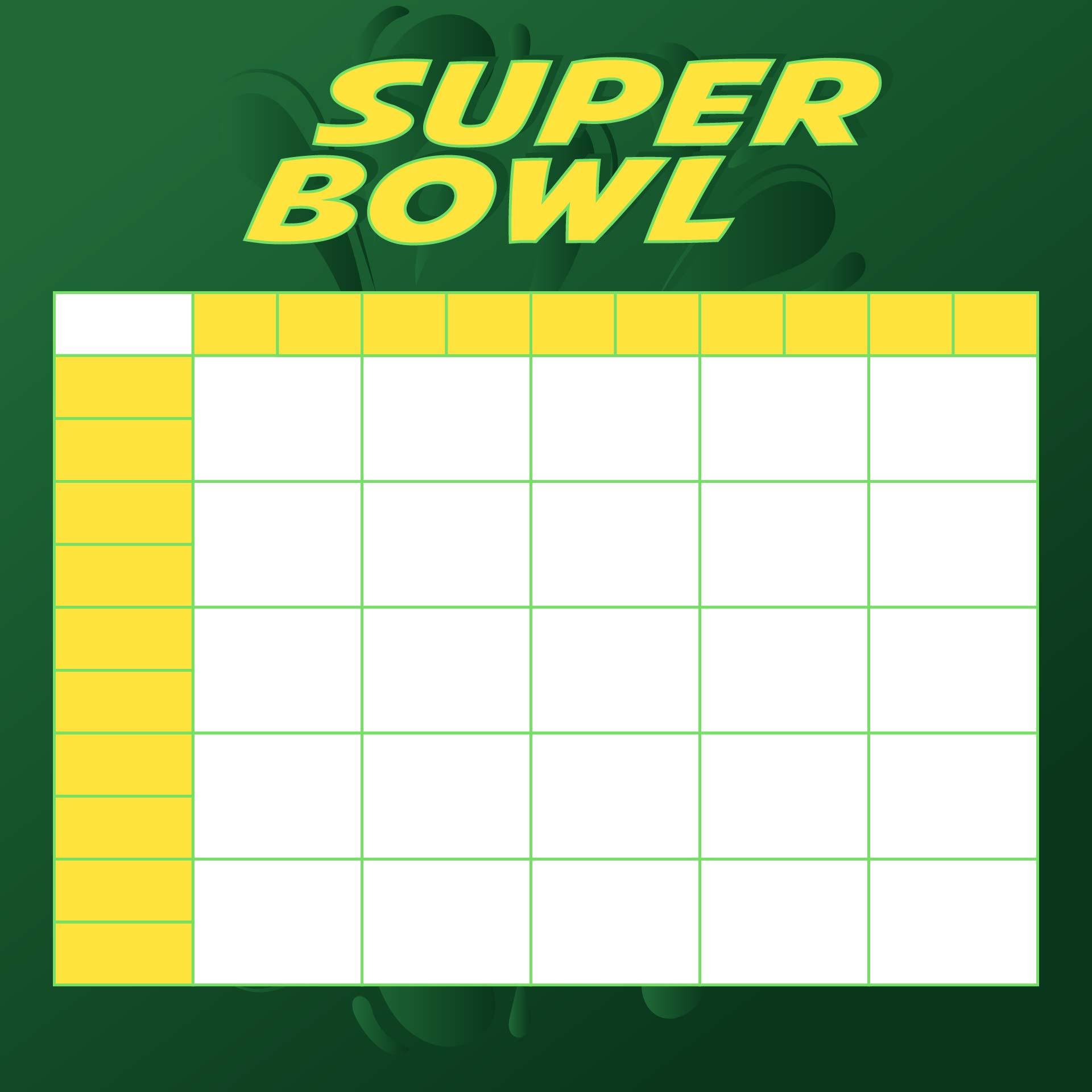 Printable Football Pool Master Sheets