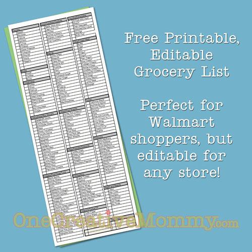 8 Best Images of Editable Grocery List Printable Printable – Editable Shopping List Template