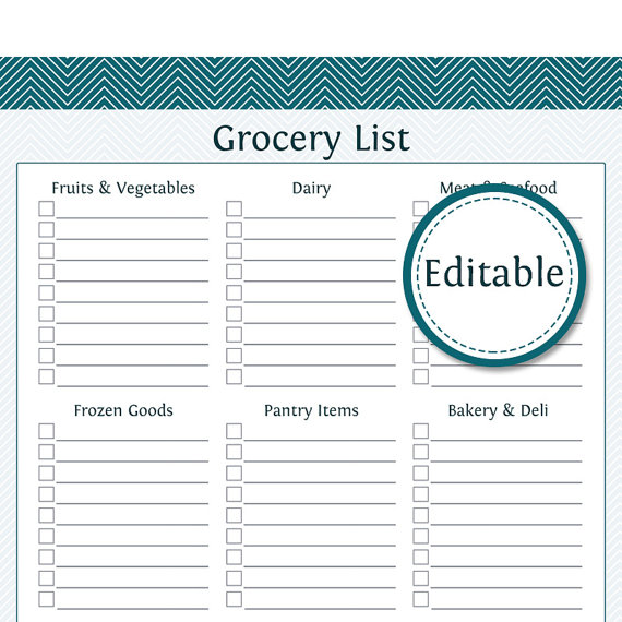 8 best images of editable grocery list printable printable grocery list template editable. Black Bedroom Furniture Sets. Home Design Ideas
