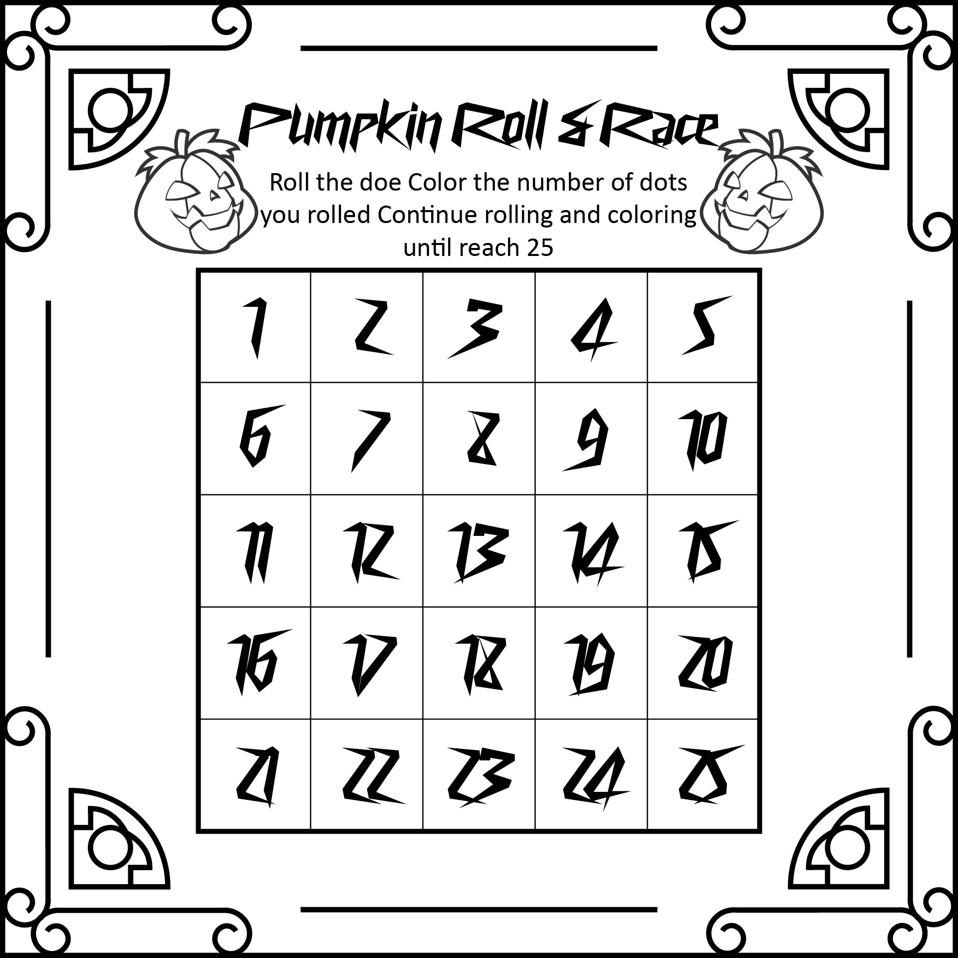 Printable Halloween Math Games