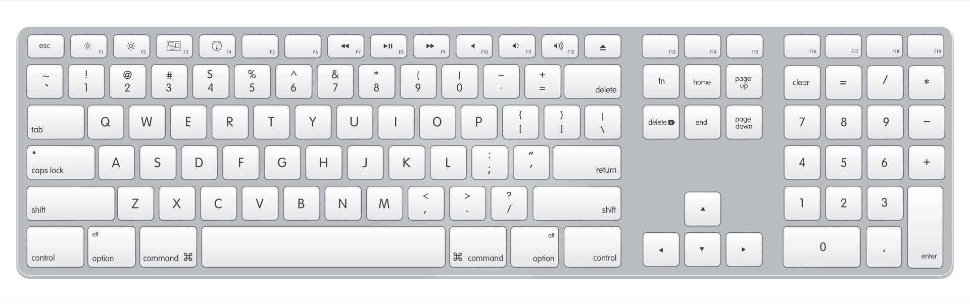 Printable Keyboard Template