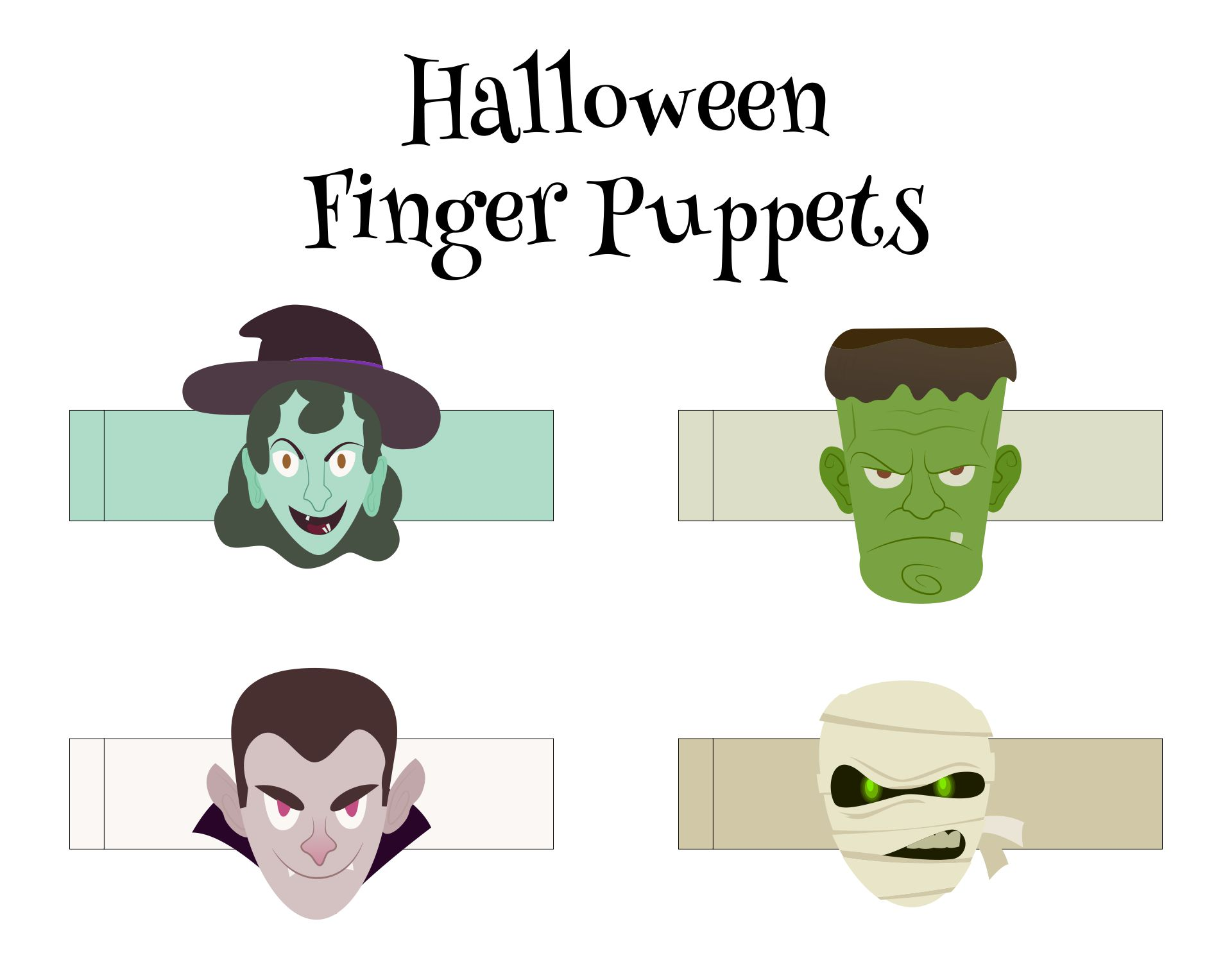 Printable Kids Halloween Crafts