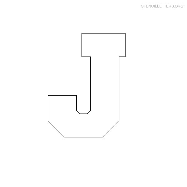 6 Images of Printable Block Letter Stencils J