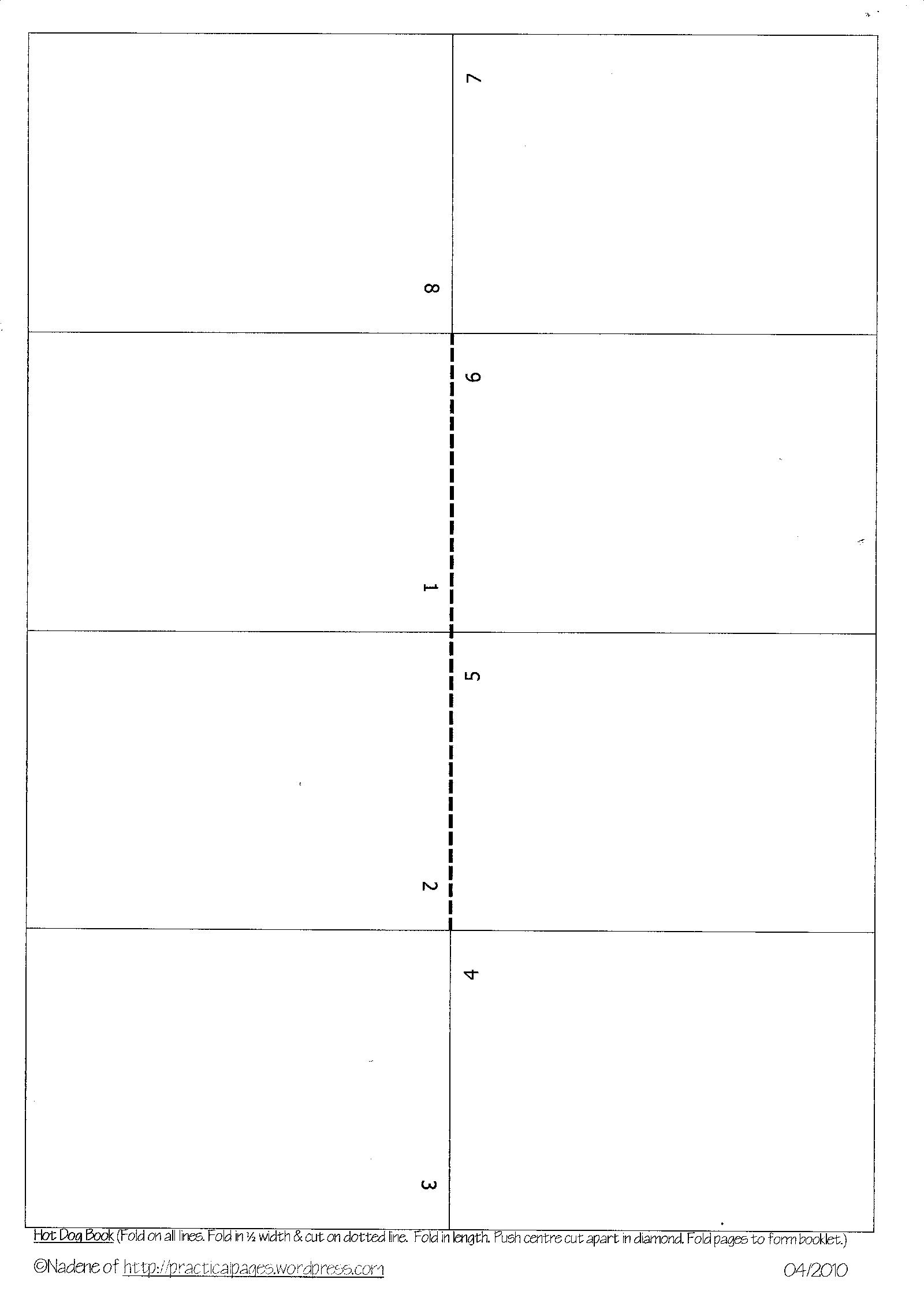 4 Images of Blank Printable Mini Book