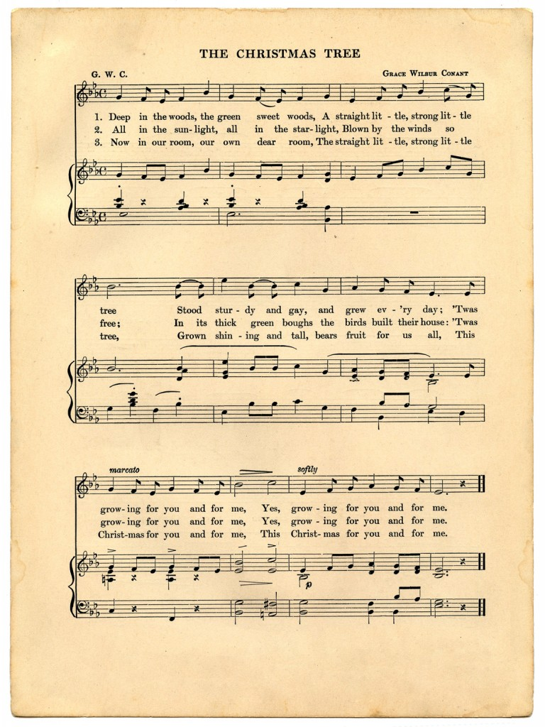 8 Images of Vintage Christmas Sheet Music Printable