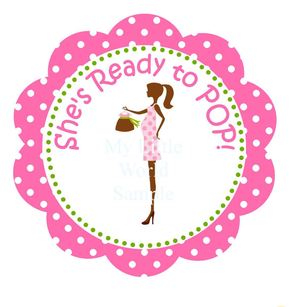 8 Images of Free Printable She's Ready To Pop Tags