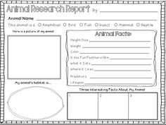 7 Images of Third Grade Animal Report Printable