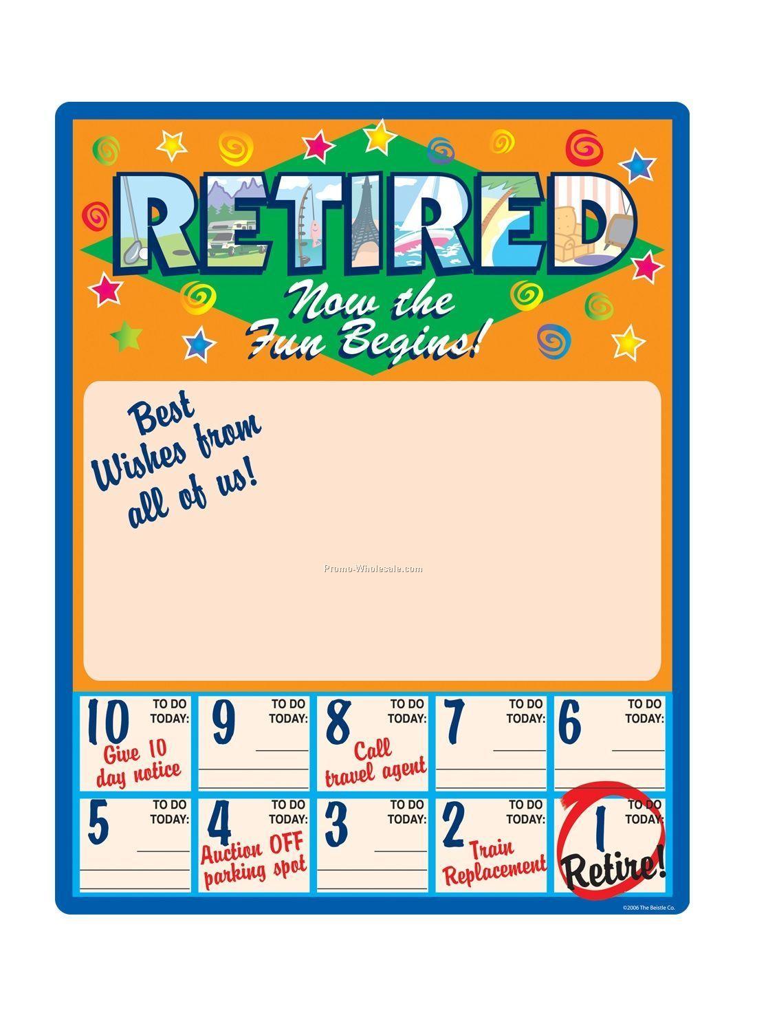 Retirement Countdown Free Printable Calendars - Retirement Countdown ...