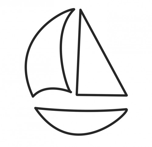 5 Images of Sailboat Templates Printable