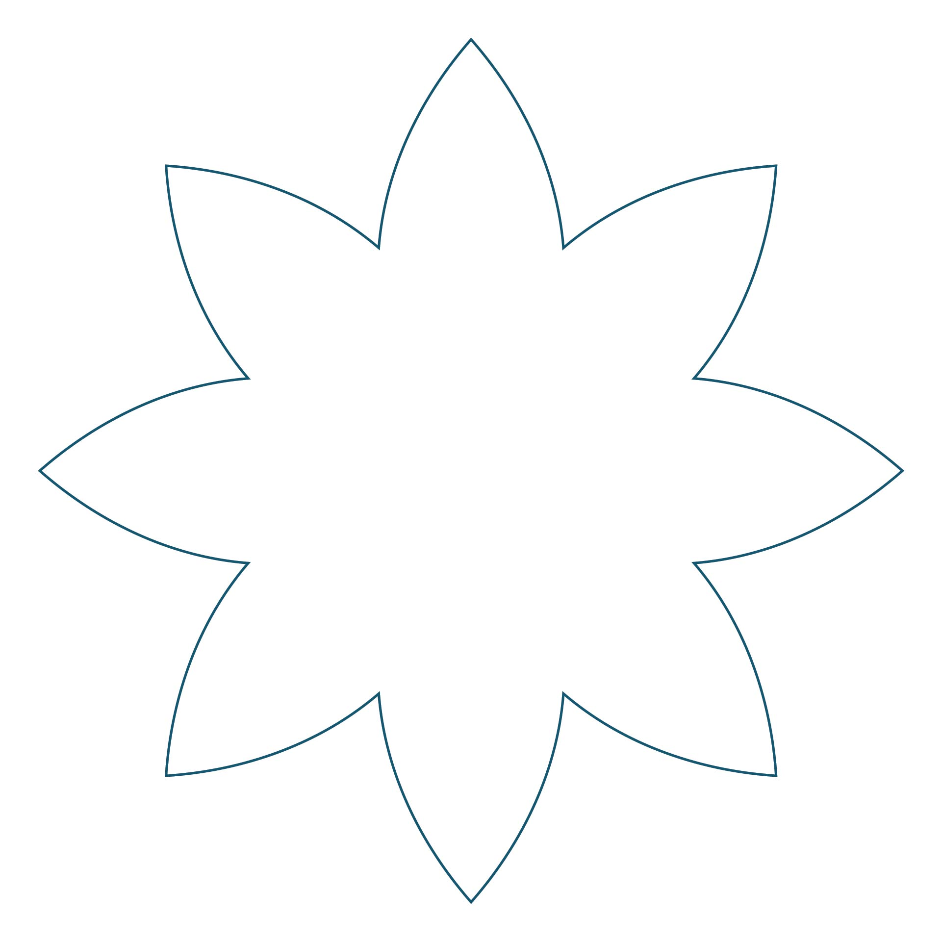 Template for Felt Poinsettia Flower