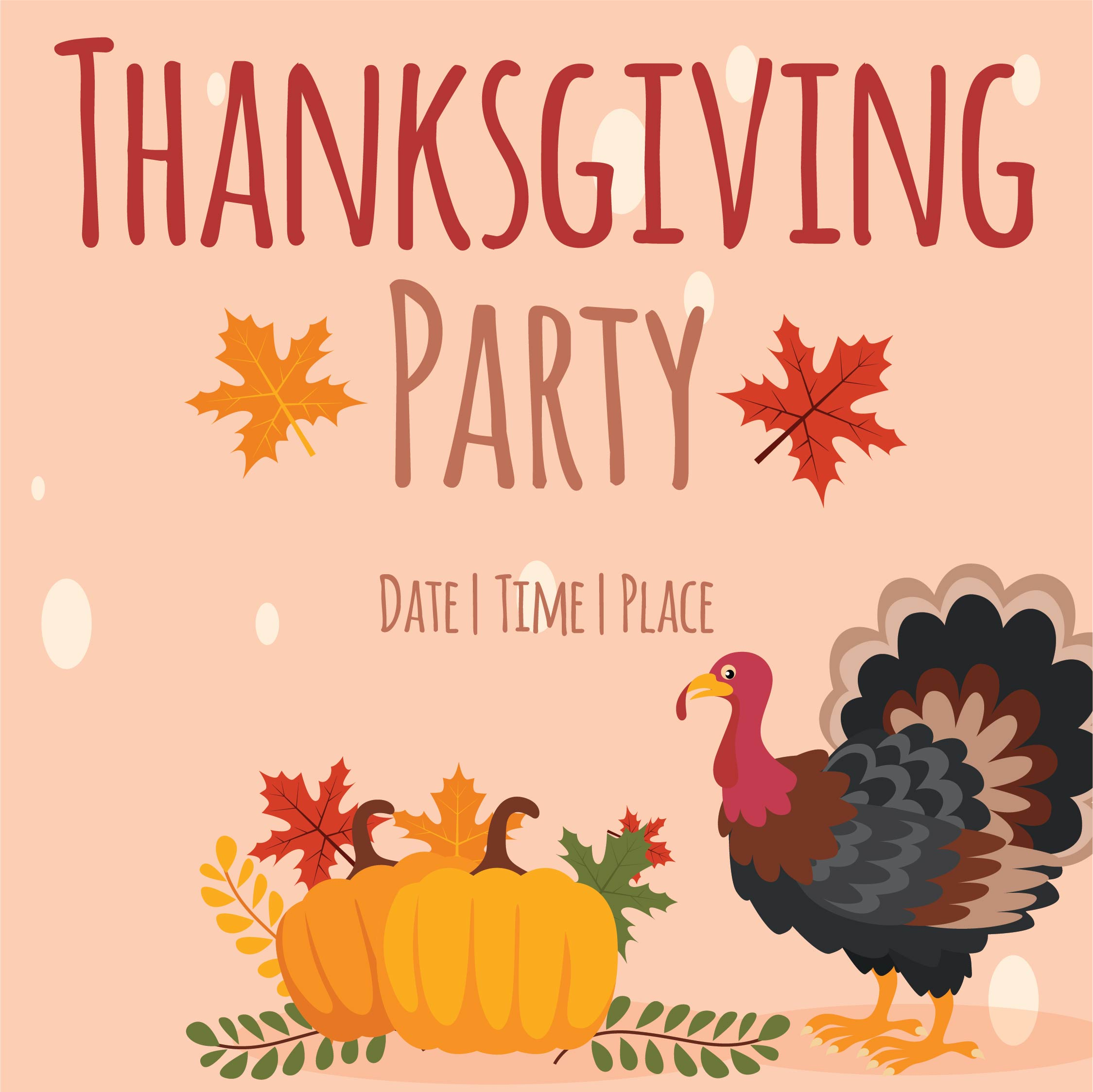 Thanksgiving Event Flyer Template Free