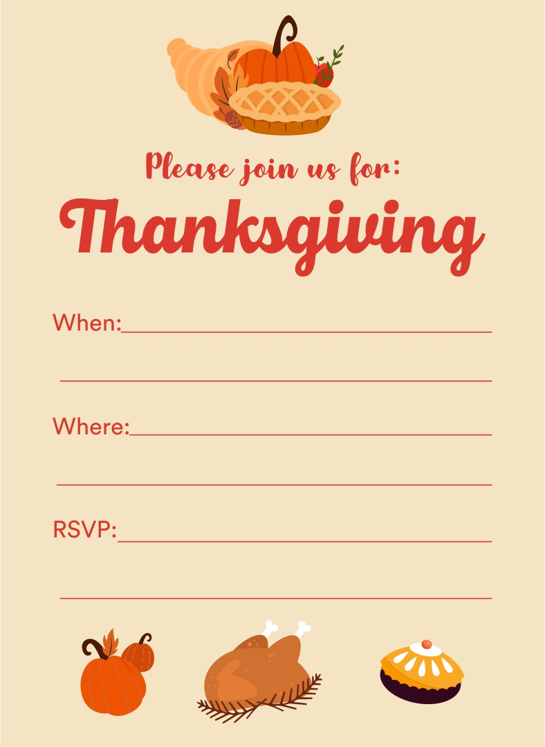 Thanksgiving Flyers Template Free
