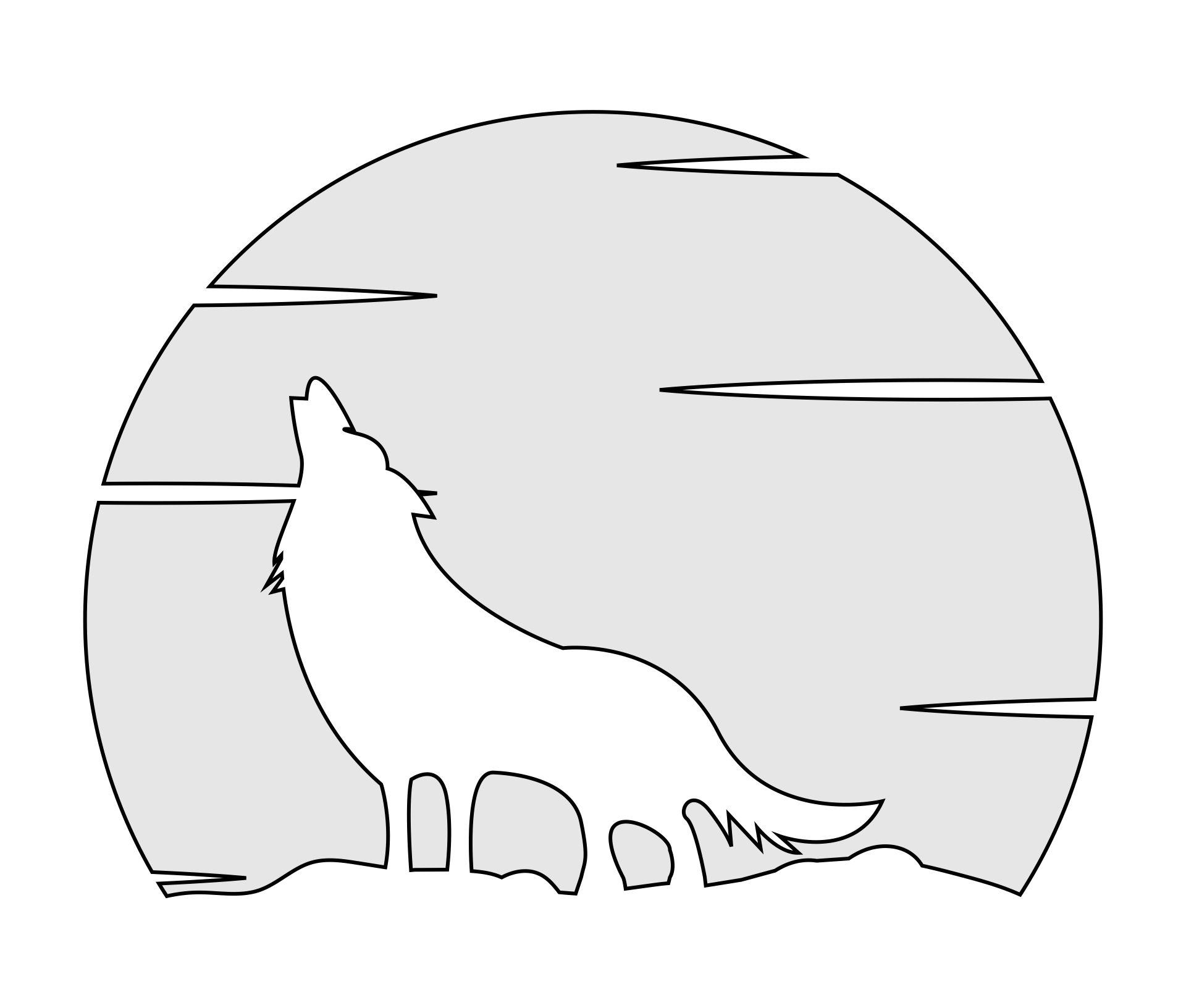 Best images of printable pumpkin carving stencils wolves