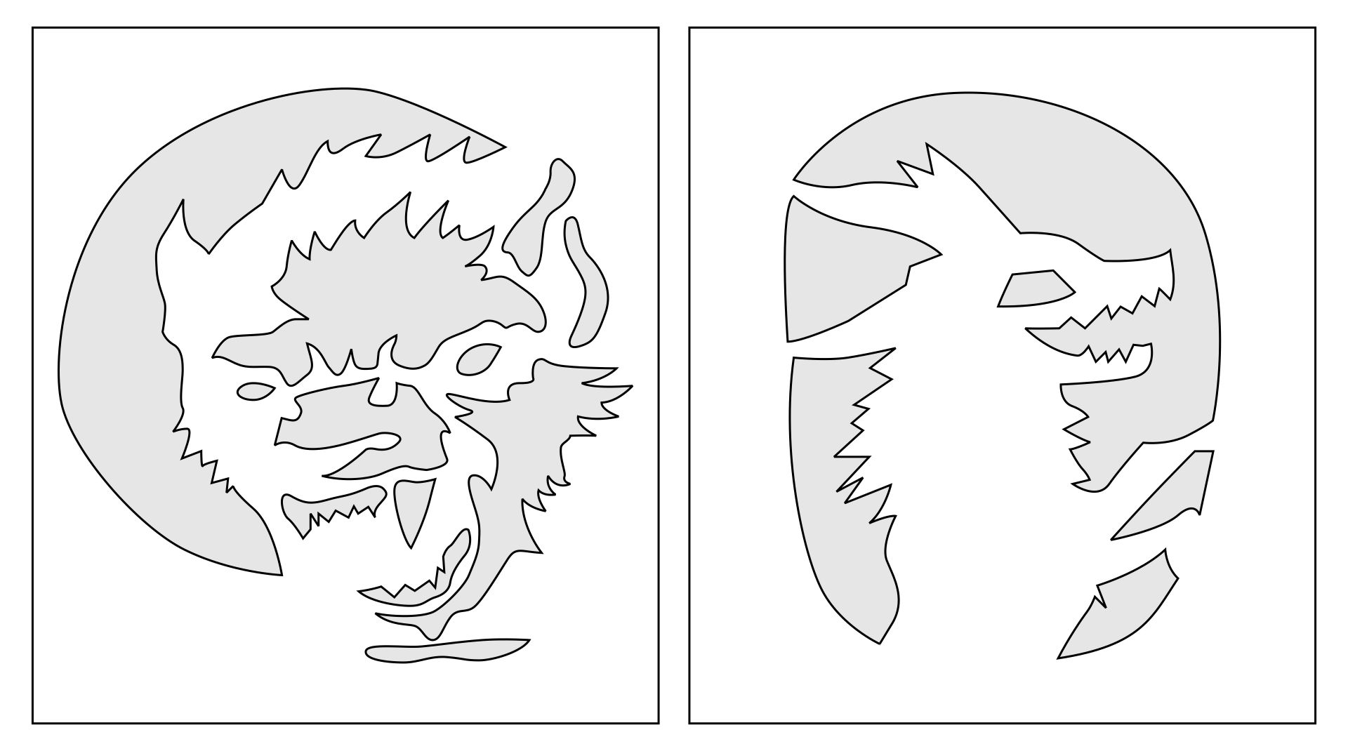 6 Images of Printable Pumpkin Carving Stencils Wolves
