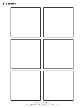 5 Images of Square Template Printable
