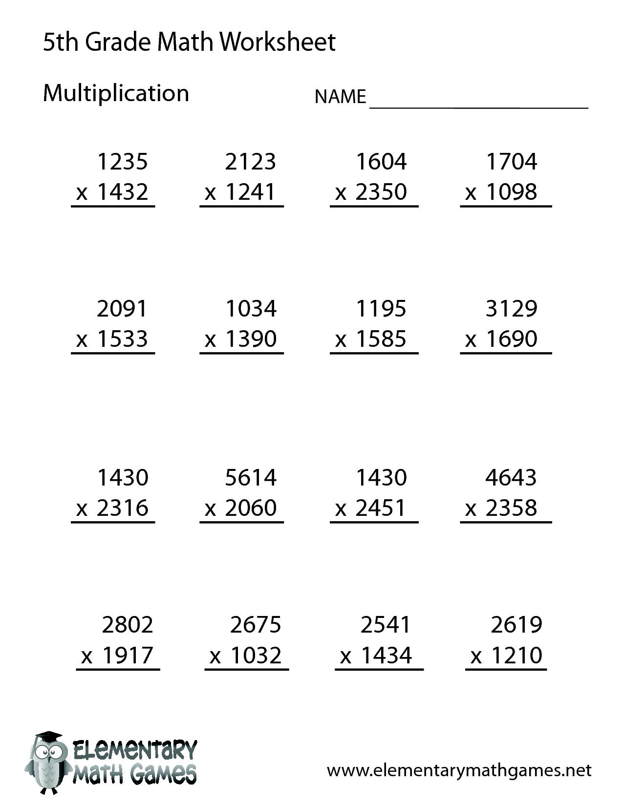 Grade 4 math worksheets online free