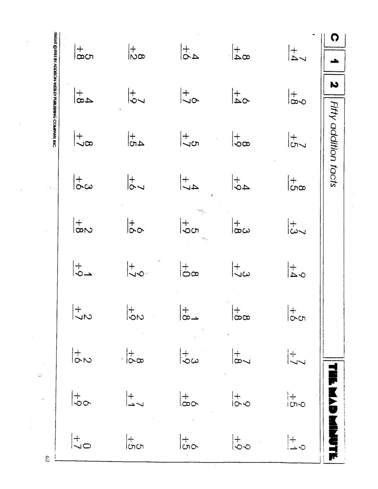 5th Grade Mad Minute Math Worksheets - multiplication ...