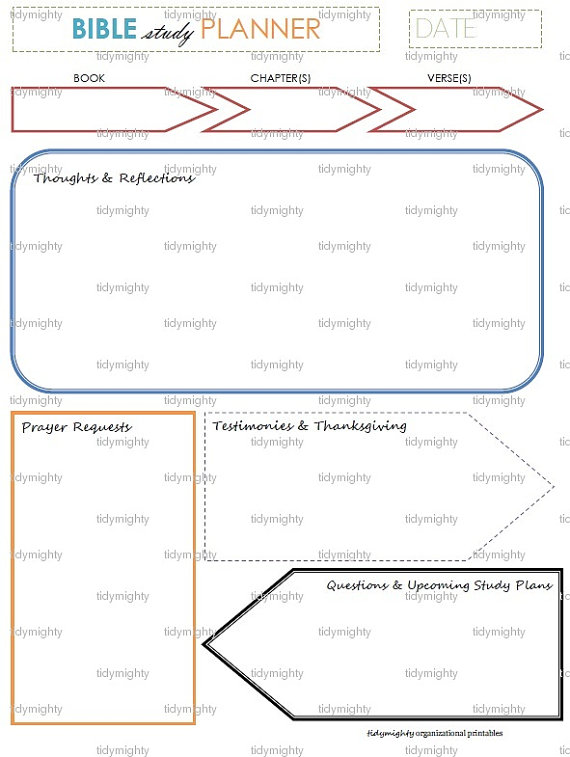 7 Images of Bible Study Planner Printables
