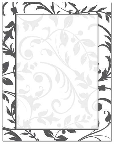 Black and White Stationary Borders