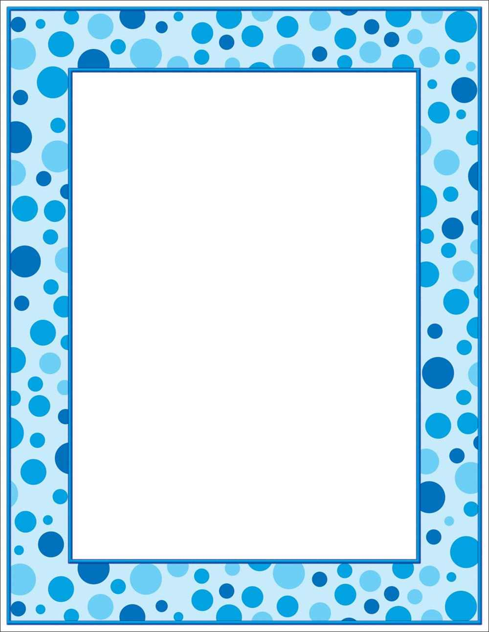8 Images of Polka Dots Printable Baby Borders