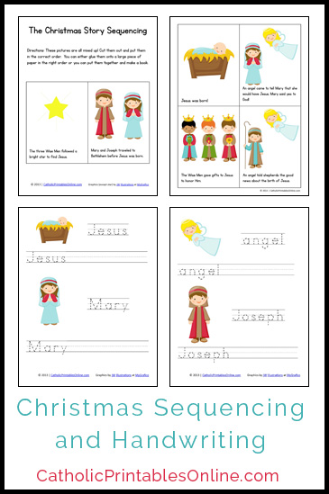 5 Images of Christmas Story Printable Mini Book