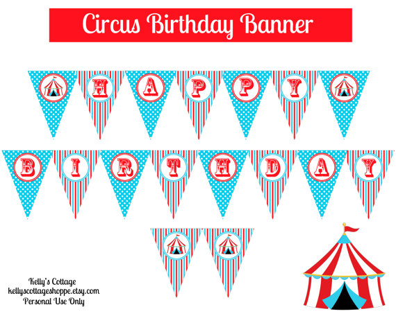 circus banner coloring pages - photo#5