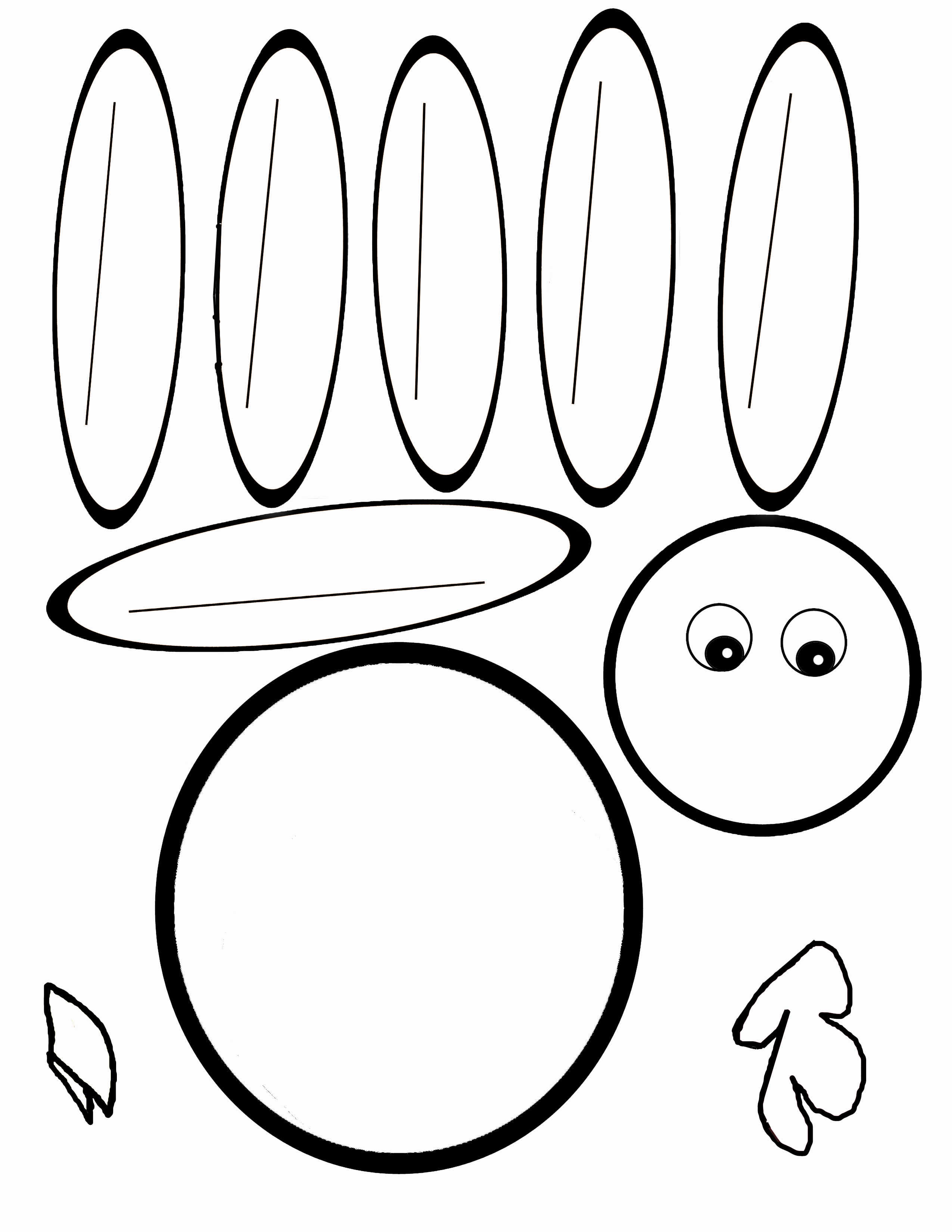 4 Images of Hand Turkey Template Printable