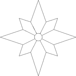 5 Images of Printable Compass Rose Patterns