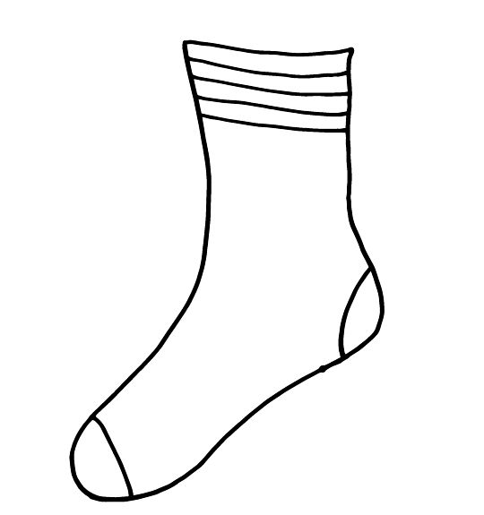 5 Images of Sock Template Printable