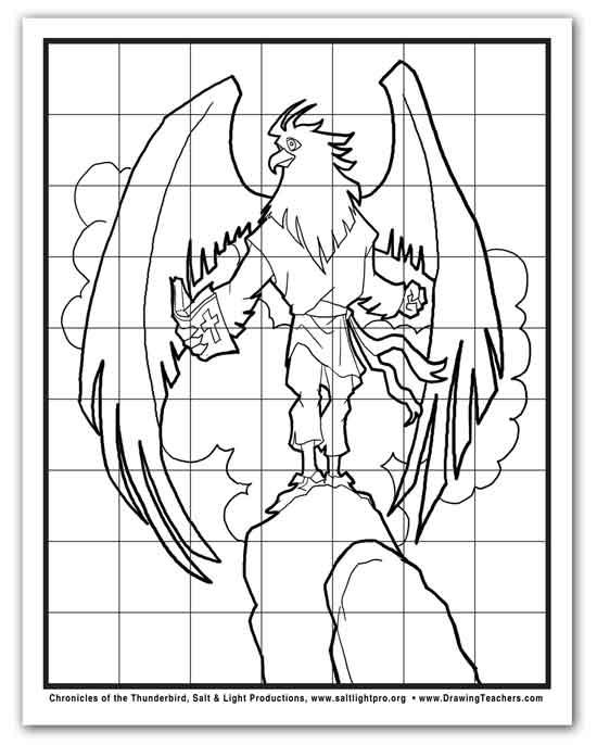 6 Images of Eagle Grid Drawing Worksheet Printable
