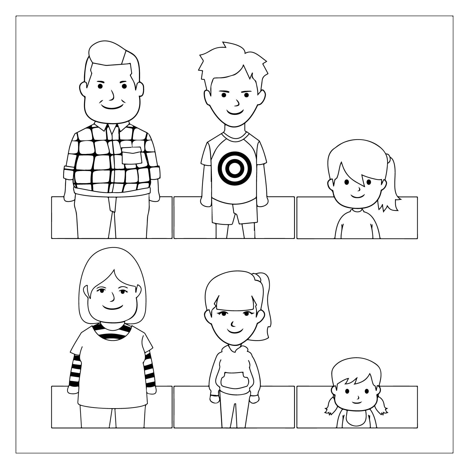 Family Finger Puppets Printable