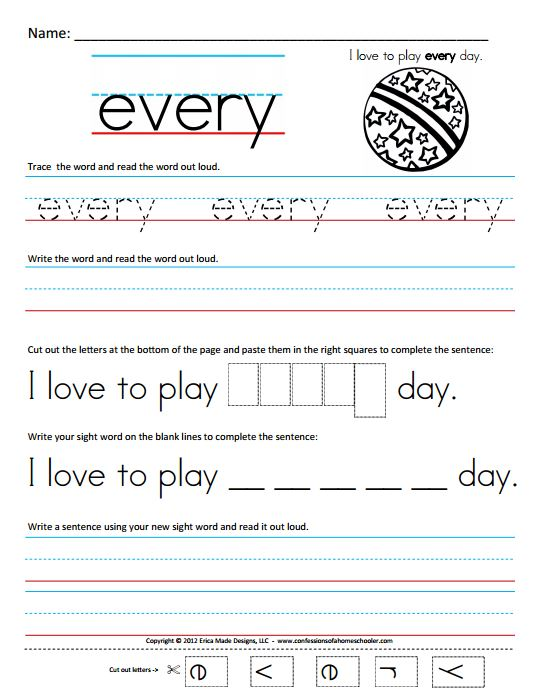 Number Names Worksheets free sight word worksheets Free – Kindergarten Sight Word Sentences Worksheets
