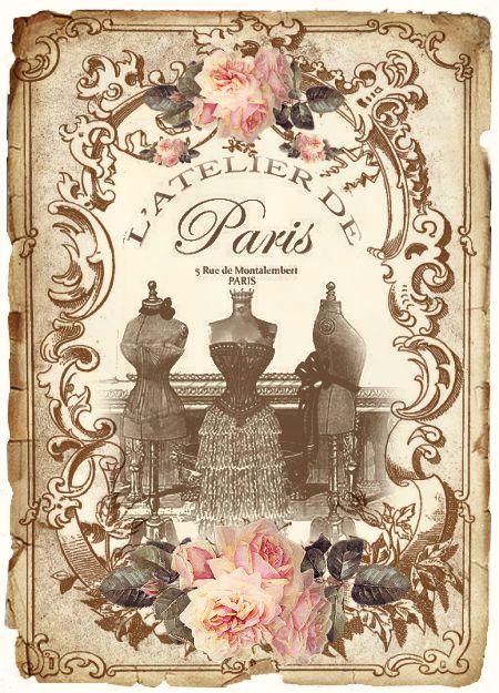 8 Images of Free Printable Vintage Paris Labels