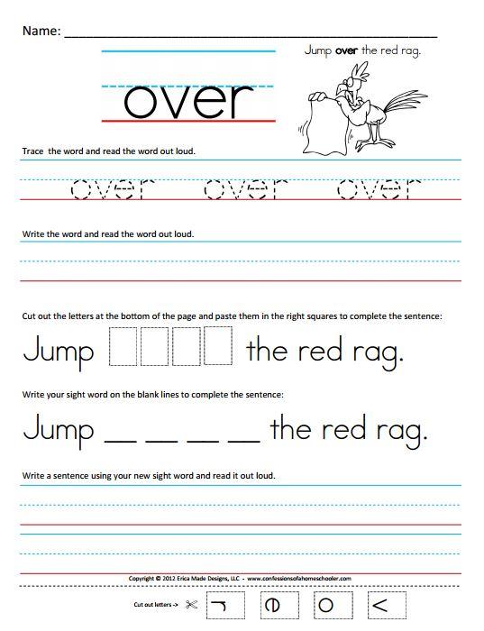 Number Names Worksheets kindergarten sight words worksheets free – Kindergarten Sight Word Sentences Worksheets