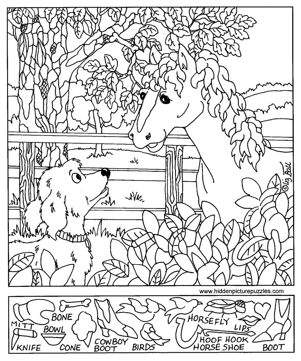 6 Images of Easy Hidden Object Printable Worksheets