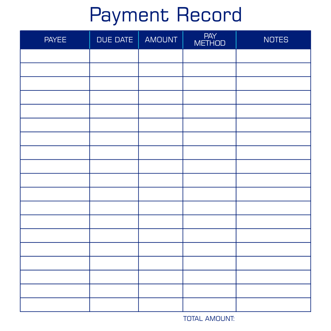 Payment Record Template