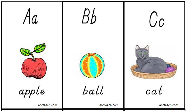 5 Images of Alphabet Cards Free Printable