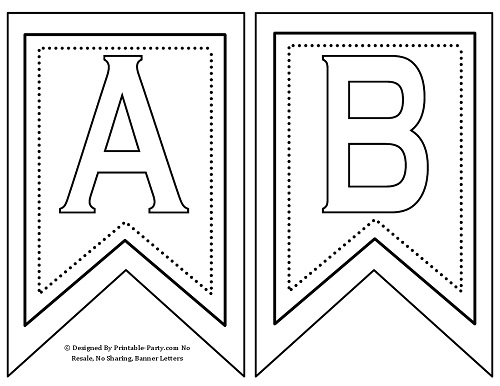 5 Images of Pennant Free Printable Alphabet Letters