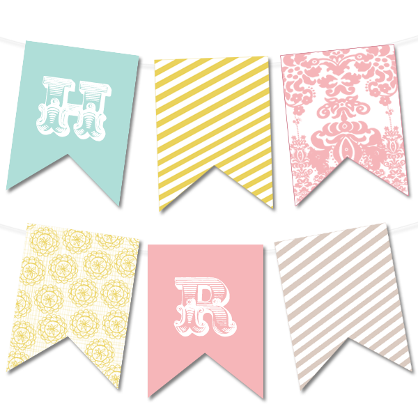 Free Printable Bunting Banner Template