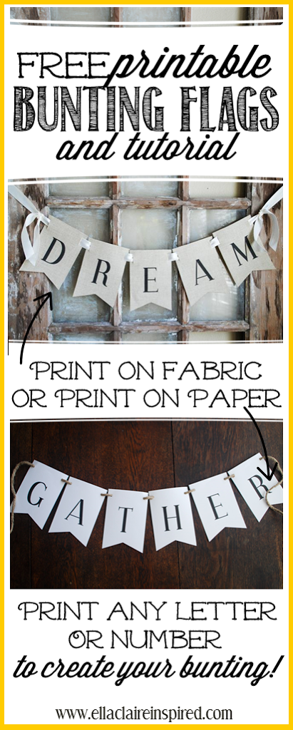 Free Printable Bunting Flags