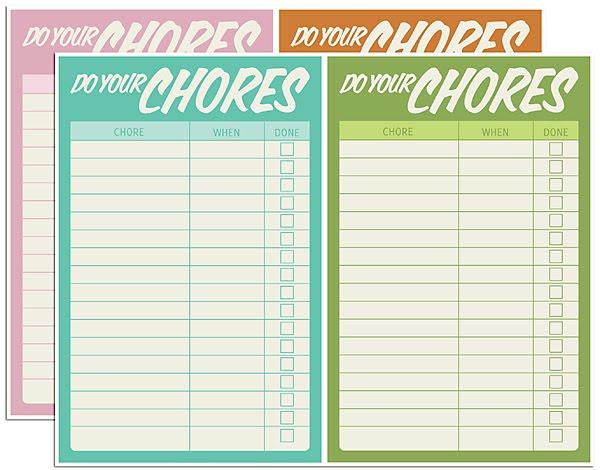 Free Printable Chore List Chart