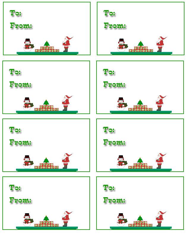 6 Images of Printable Christmas Gift Tags Templates