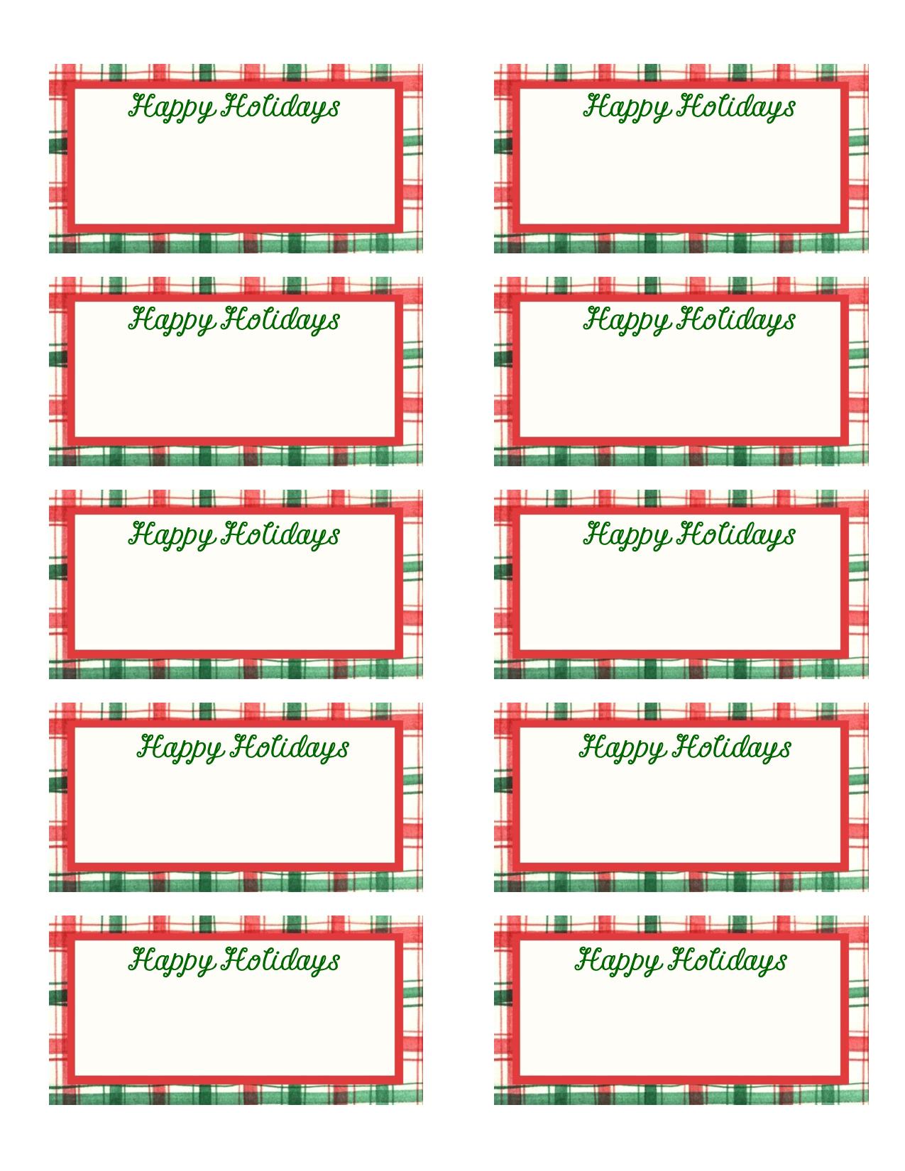 Printable Christmas Gift Tags Templates