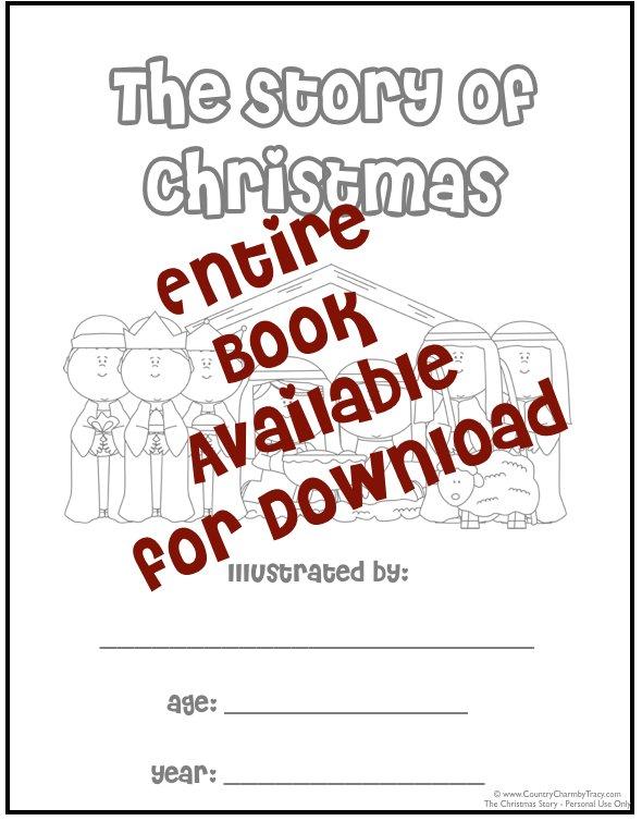 Story Printable Mini Book - Christmas Story Mini Book Printable ...