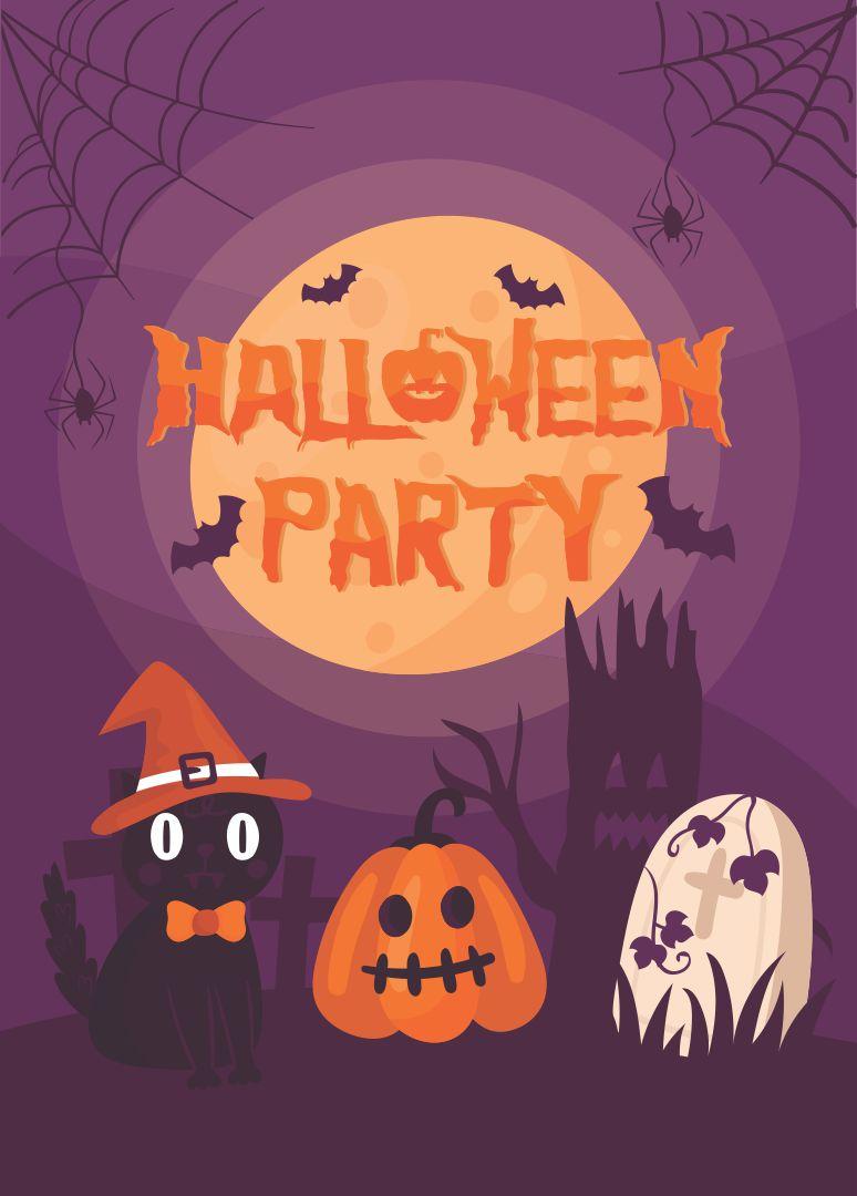 Printable Halloween Party Flyers