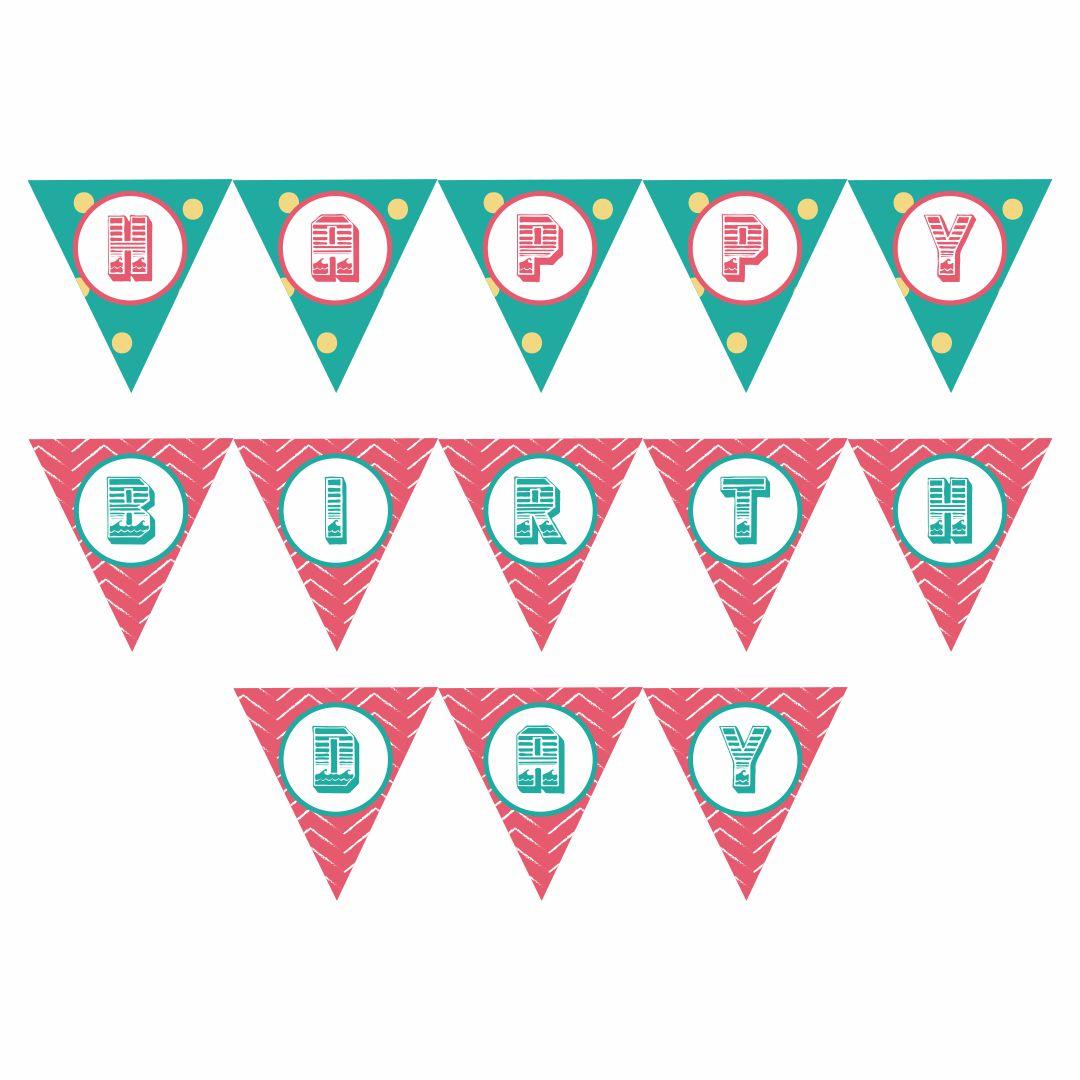 Printable Happy Birthday Banner
