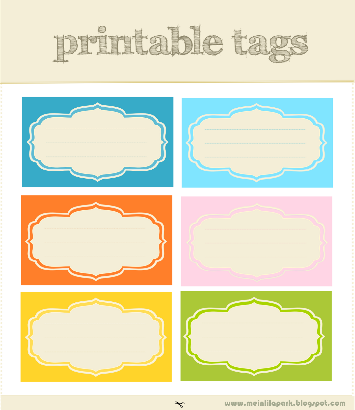 4 Images of Free Printable Scrapbook Tags