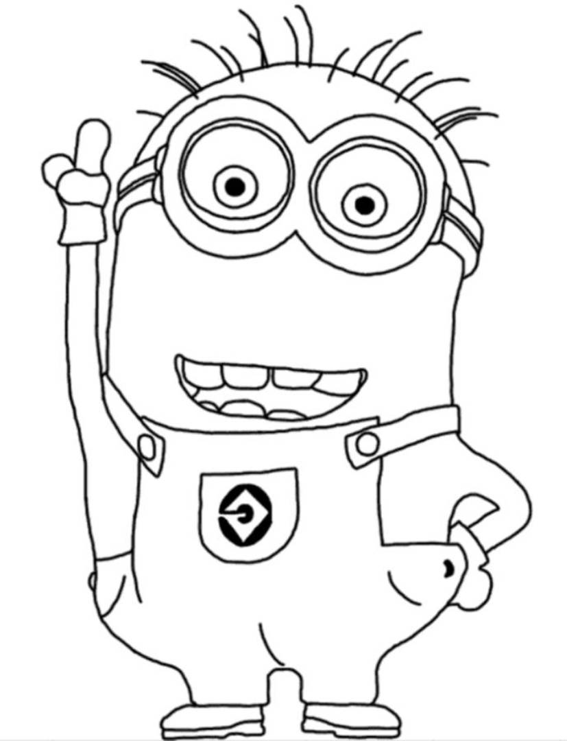 5 Images of Minion Coloring Sheets Printable