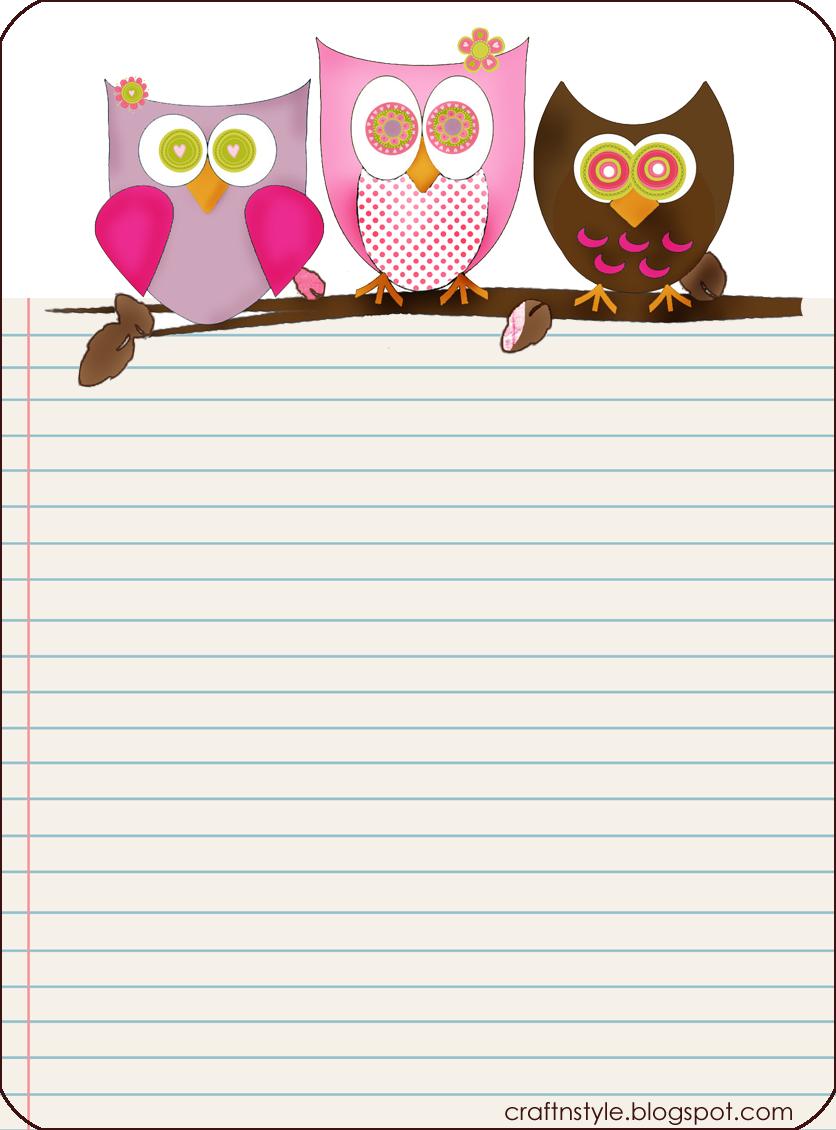 Free Printable Owl Stationery