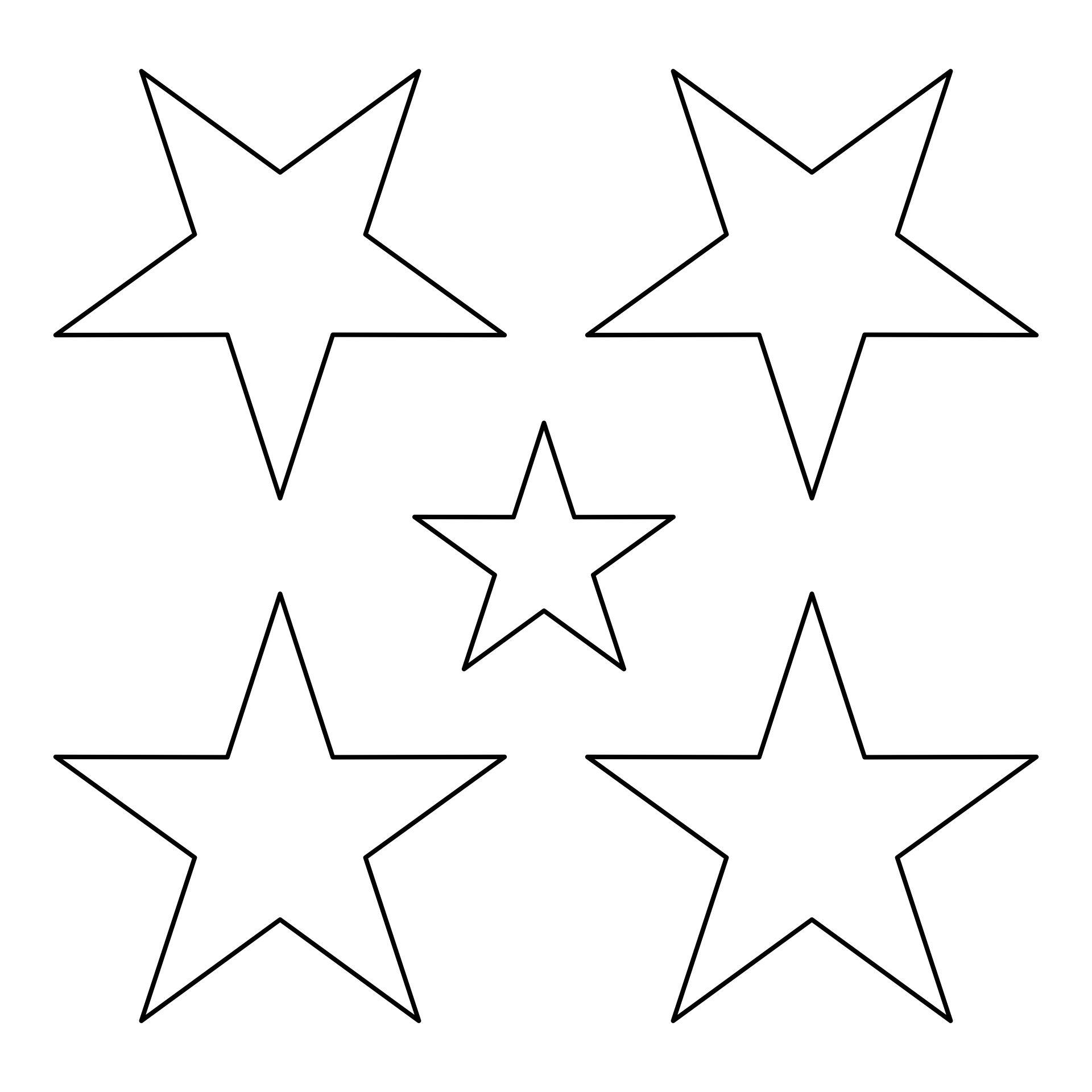 Printable Star Shape Templates